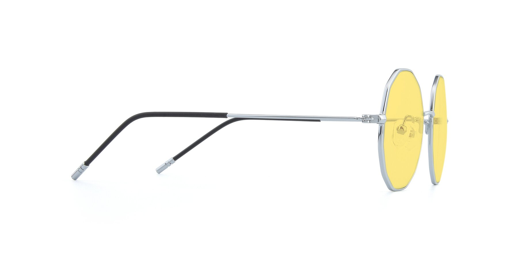 Side of Dreamer in Silver with Medium Yellow Tinted Lenses