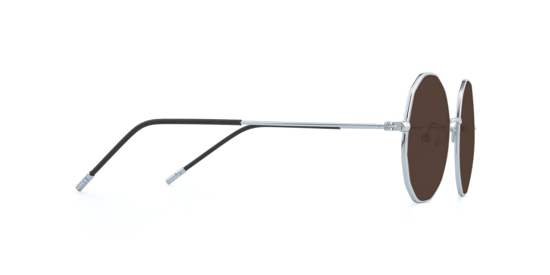 Side of Dreamer in Silver with Brown Tinted Lenses