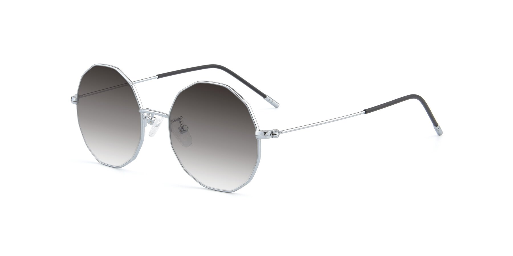 Angle of Dreamer in Silver with Gray Gradient Lenses