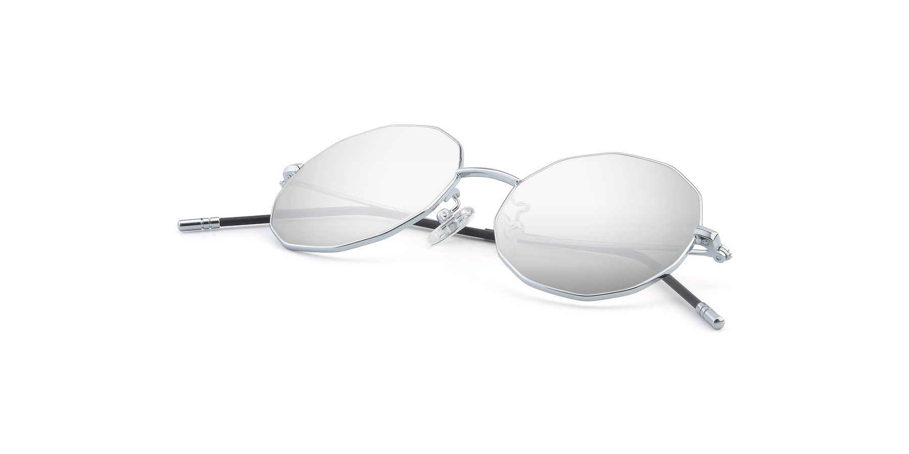 View of Dreamer in Silver with Silver Mirrored Lenses