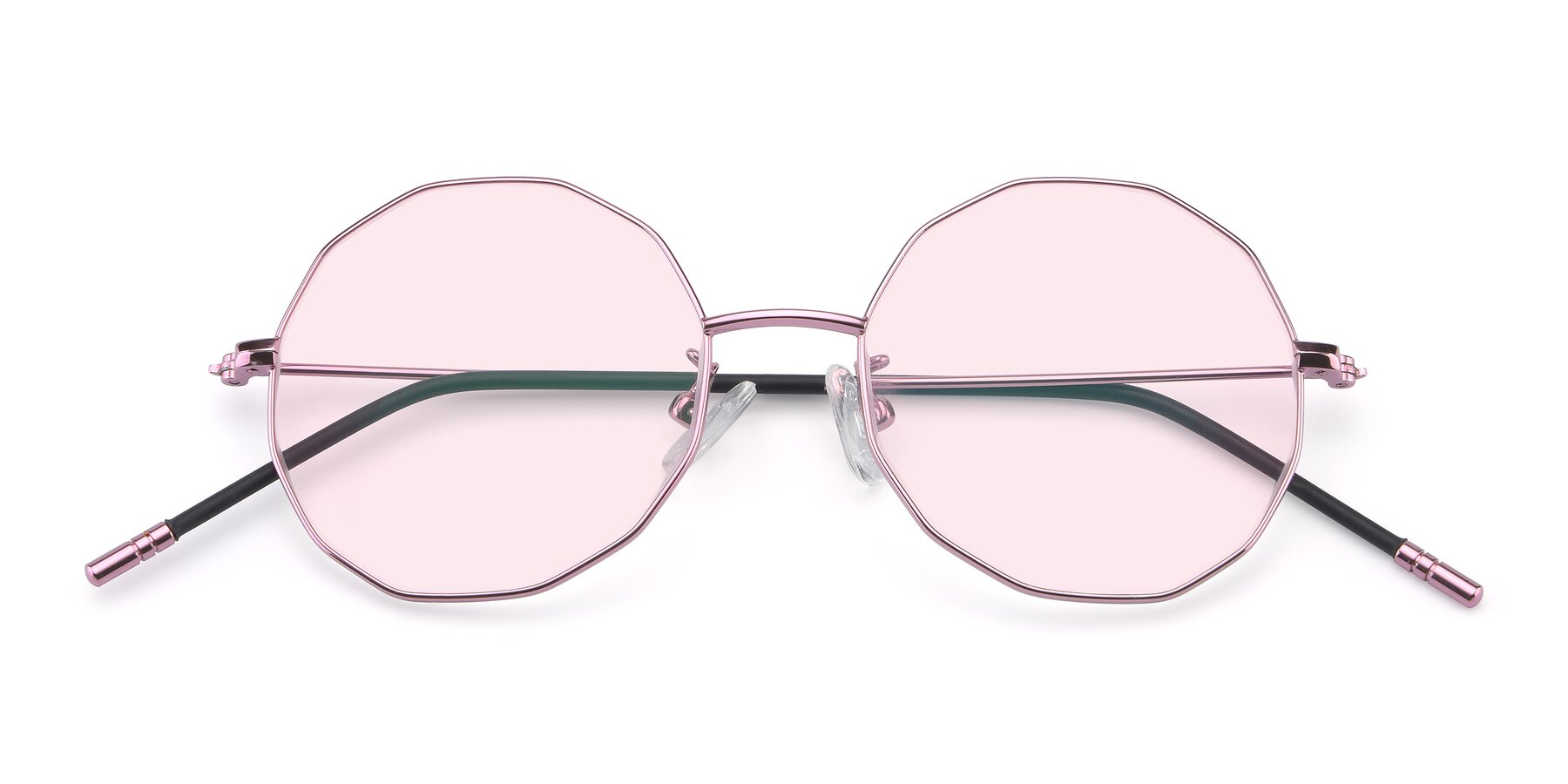 Folded Front of Dreamer in Pink with Light Pink Tinted Lenses