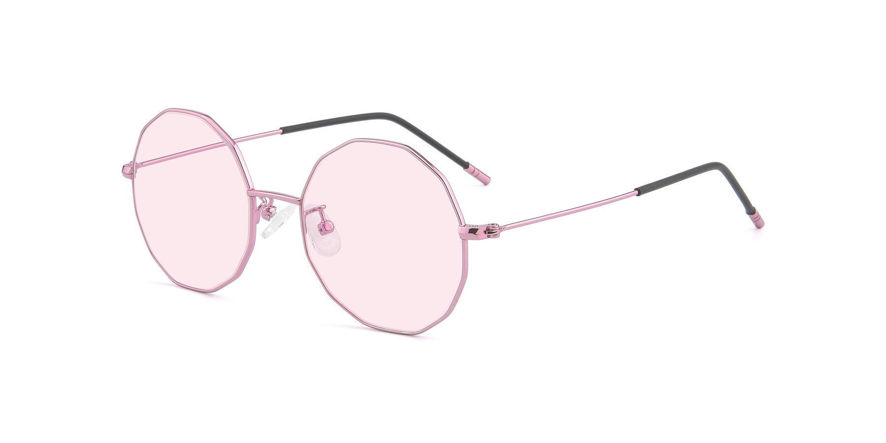 Angle of Dreamer in Pink with Light Pink Tinted Lenses
