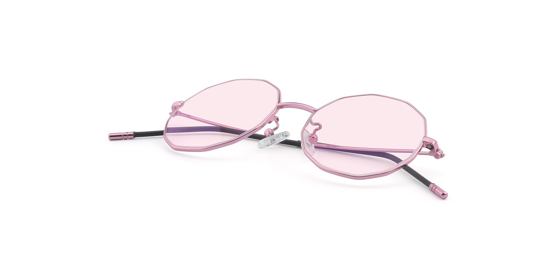 View of Dreamer in Pink with Light Pink Tinted Lenses
