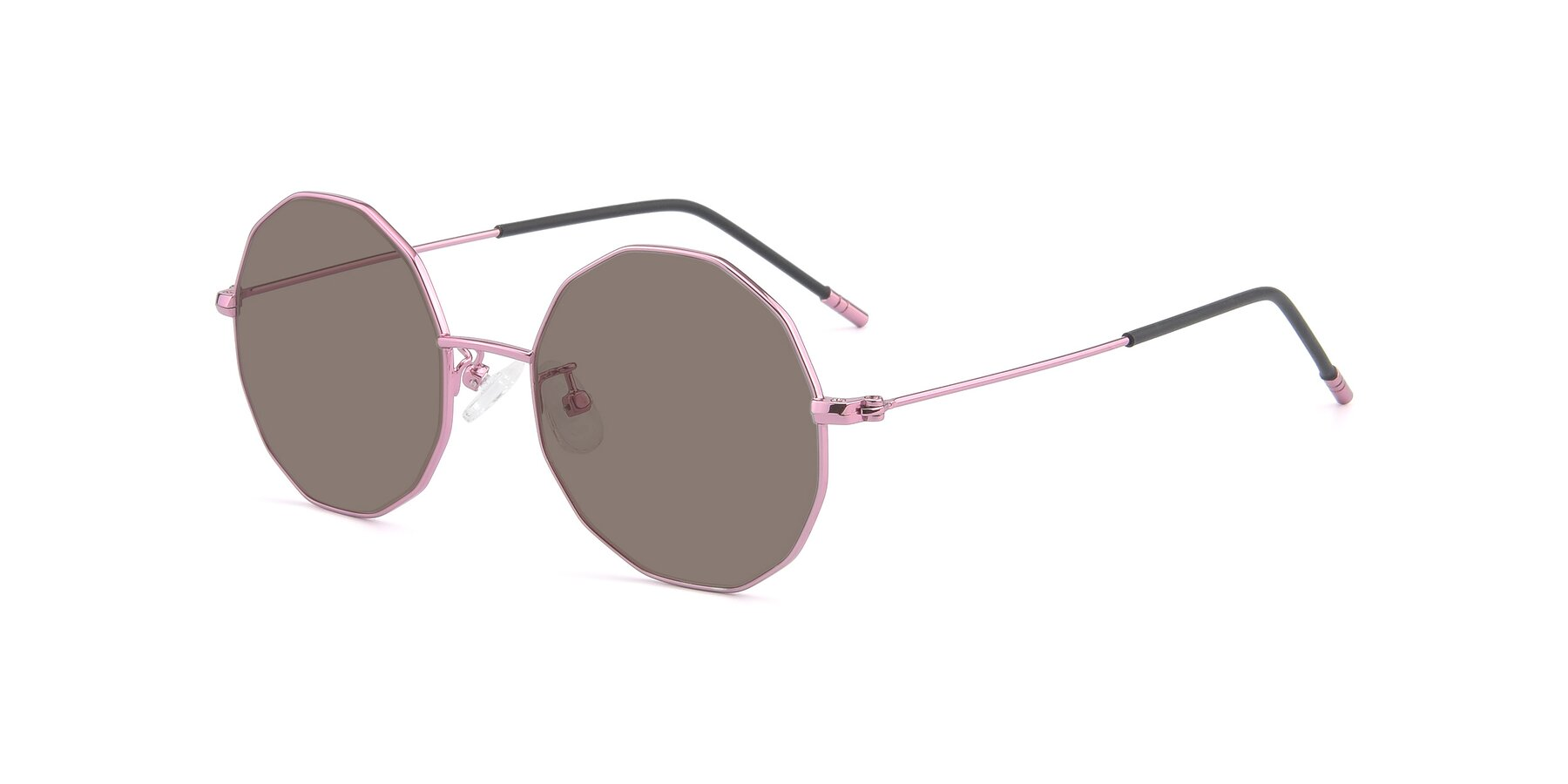 Angle of Dreamer in Pink with Medium Brown Tinted Lenses