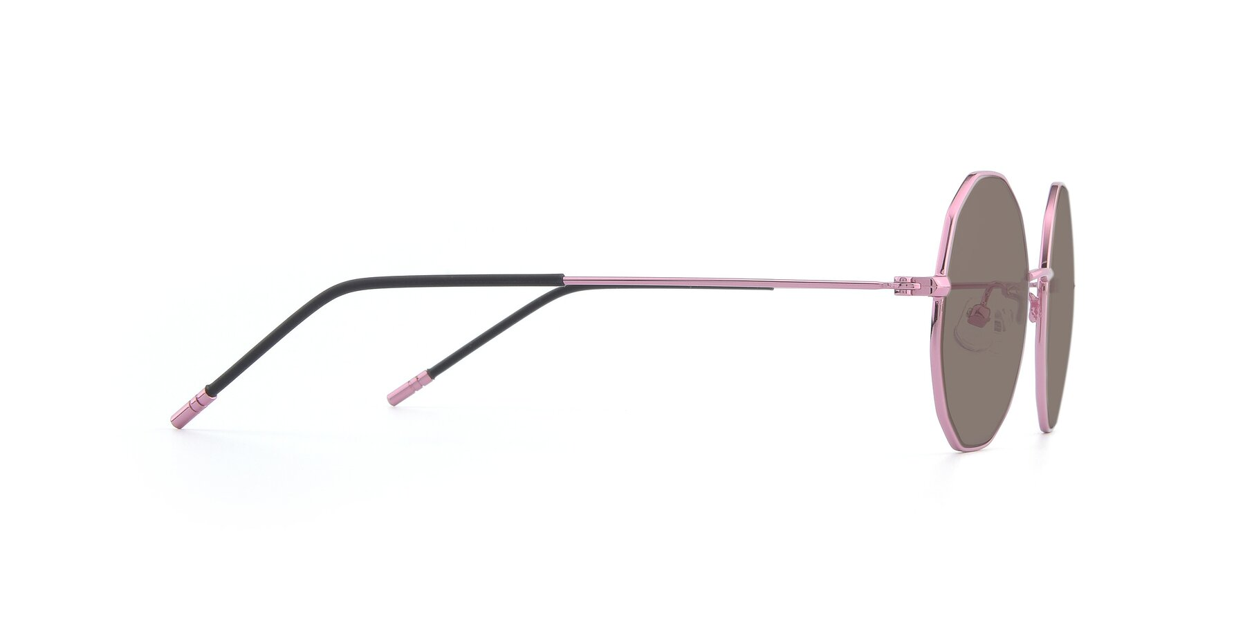 Side of Dreamer in Pink with Medium Brown Tinted Lenses