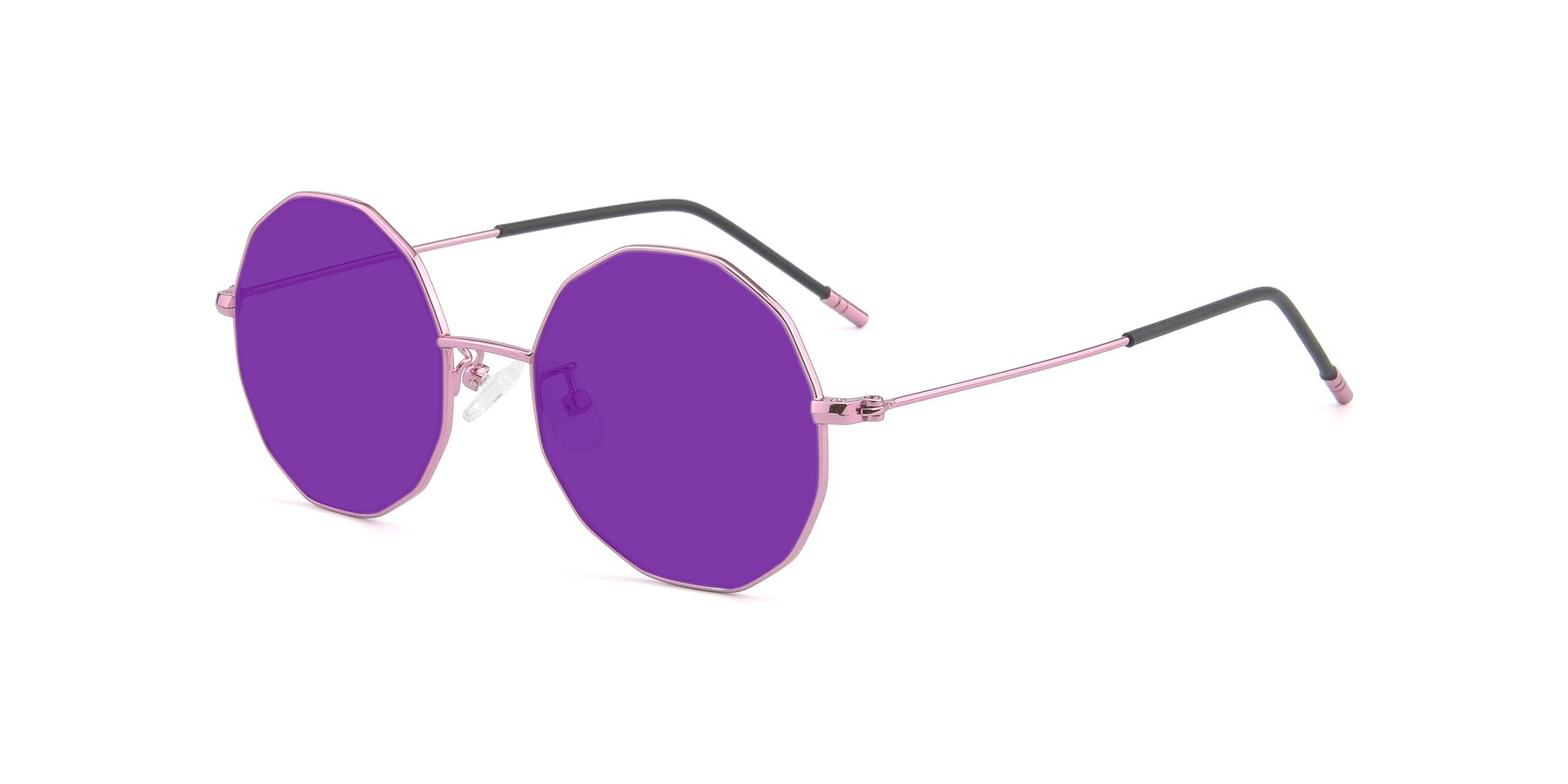 Angle of Dreamer in Pink with Purple Tinted Lenses