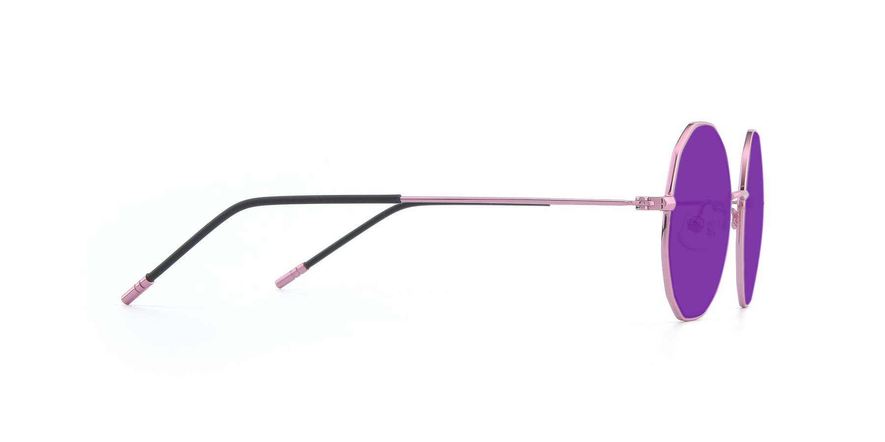 Side of Dreamer in Pink with Purple Tinted Lenses