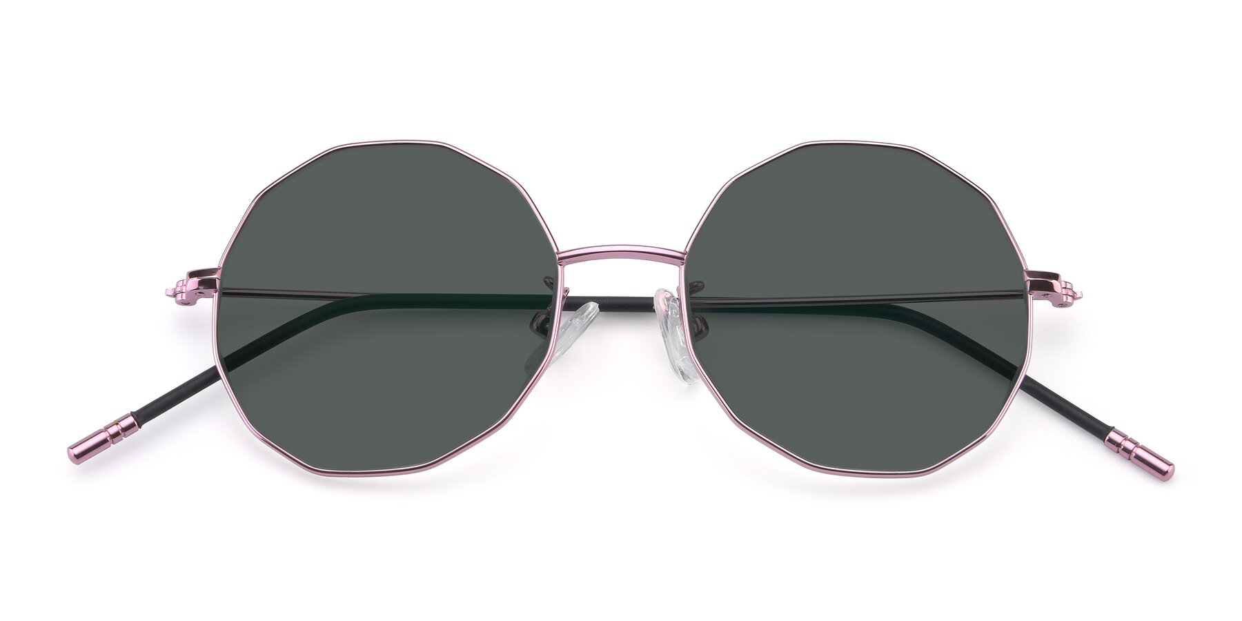 Folded Front of Dreamer in Pink with Gray Polarized Lenses