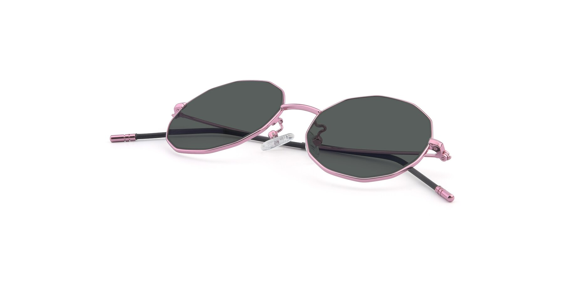 View of Dreamer in Pink with Gray Polarized Lenses