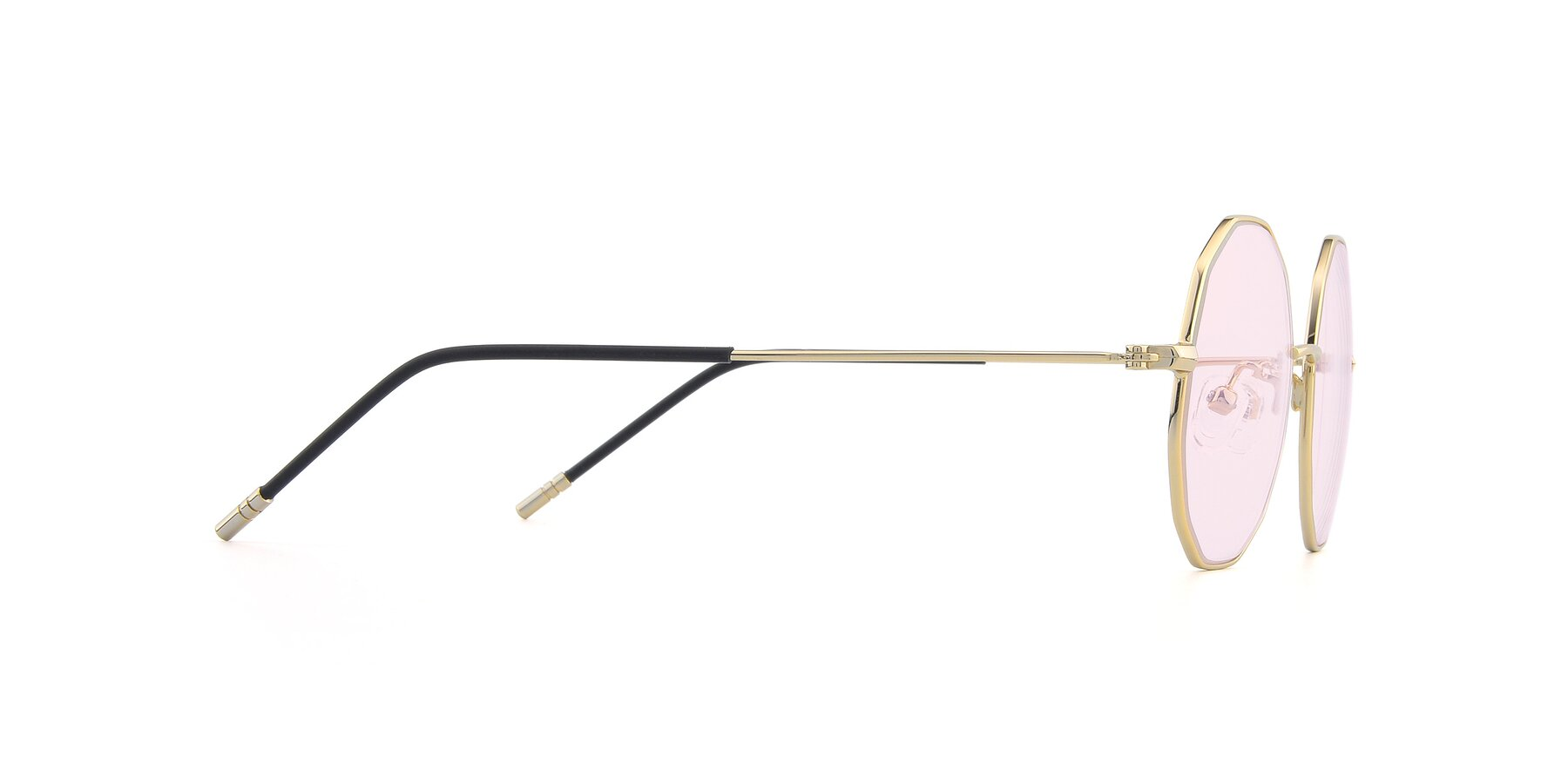 Side of Dreamer in Gold with Light Pink Tinted Lenses
