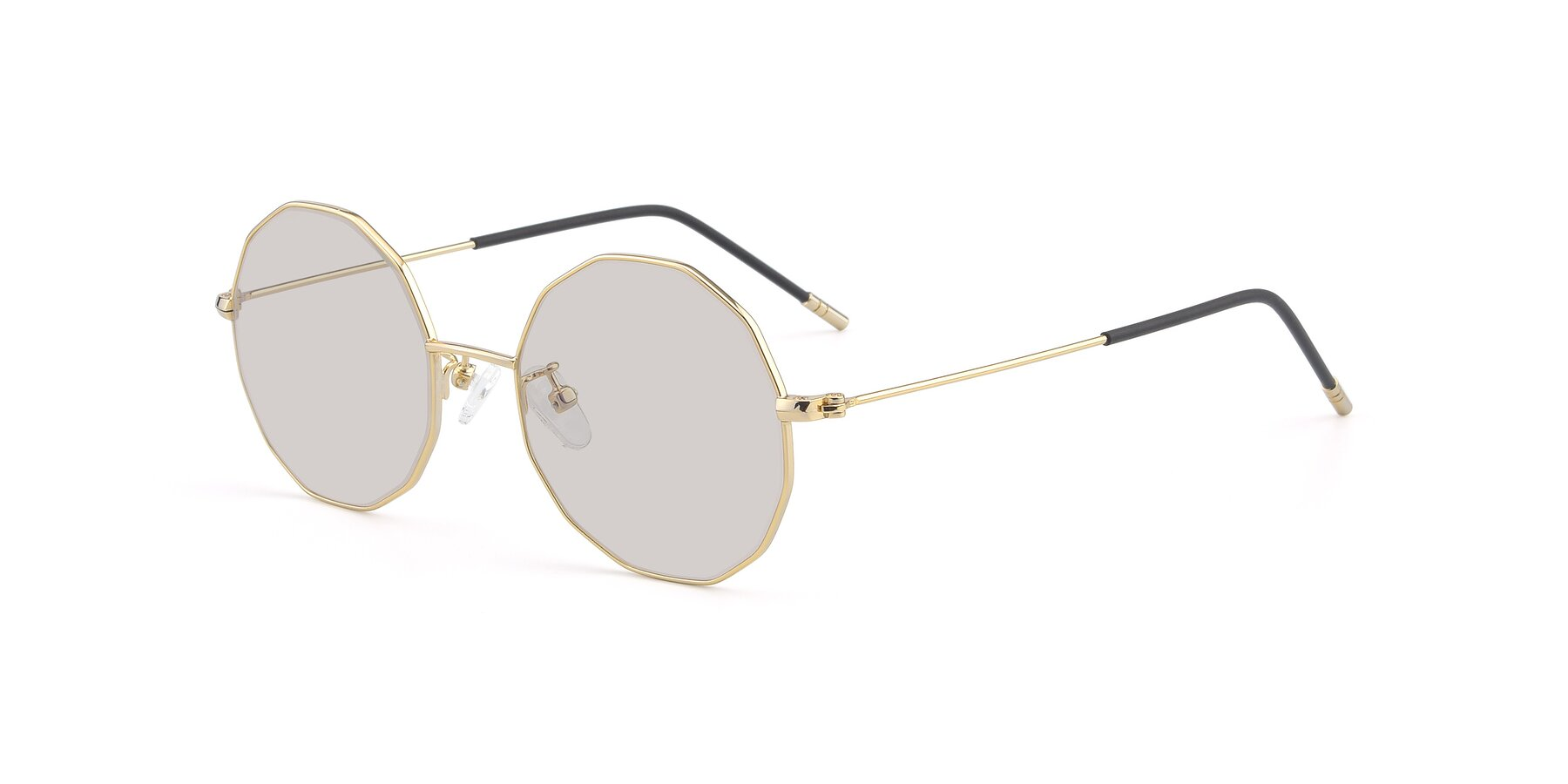 Angle of Dreamer in Gold with Light Brown Tinted Lenses