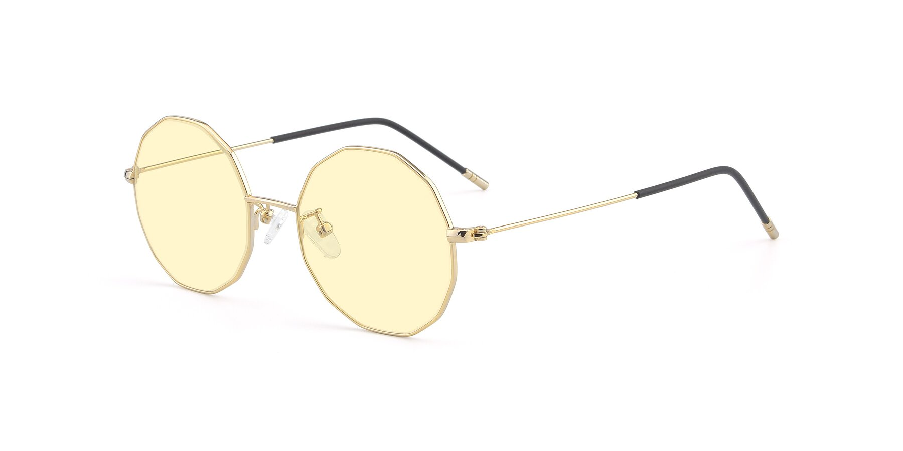Angle of Dreamer in Gold with Light Yellow Tinted Lenses