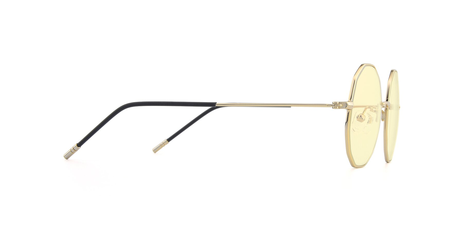 Side of Dreamer in Gold with Light Yellow Tinted Lenses