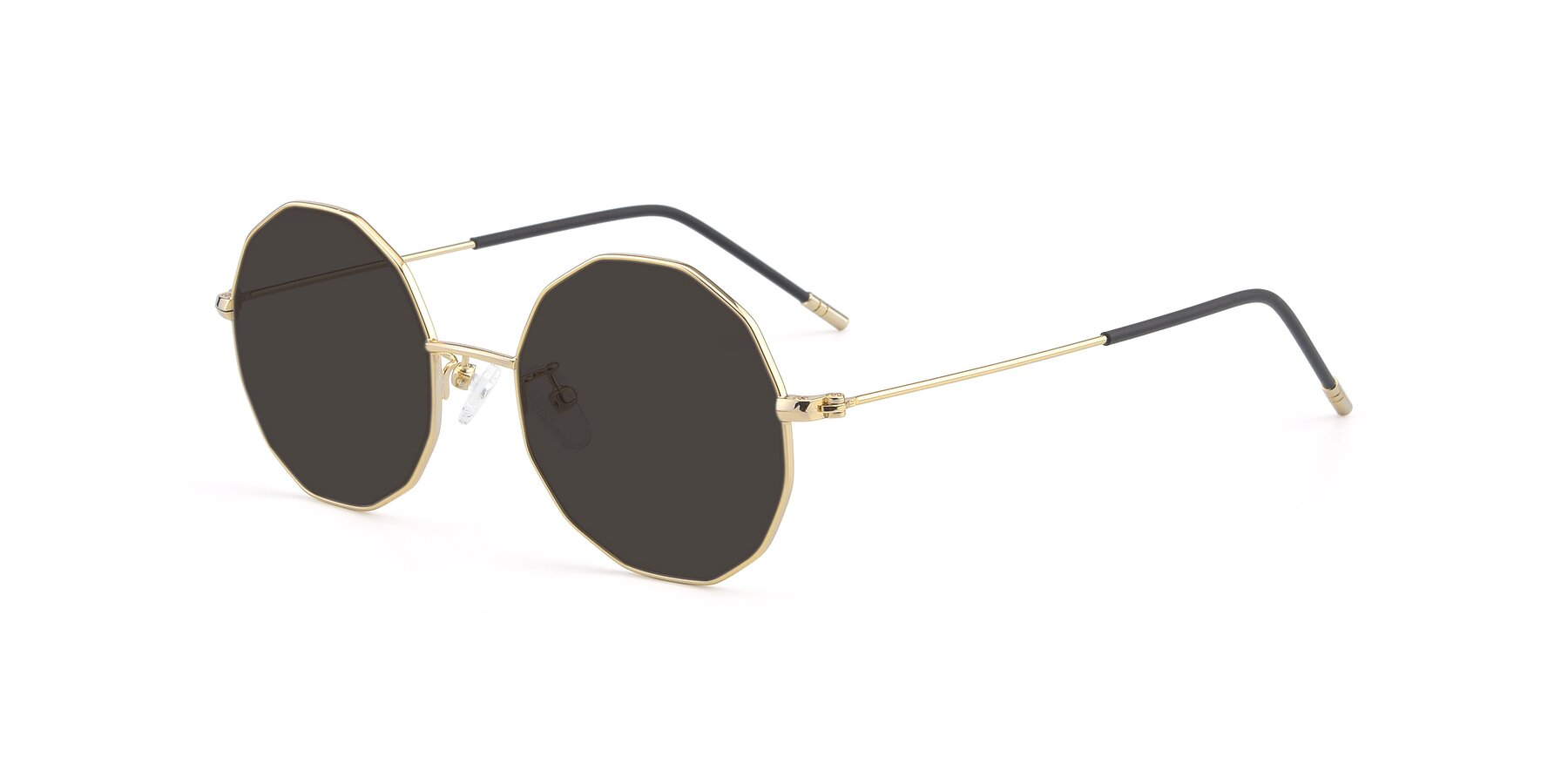 Angle of Dreamer in Gold with Gray Tinted Lenses