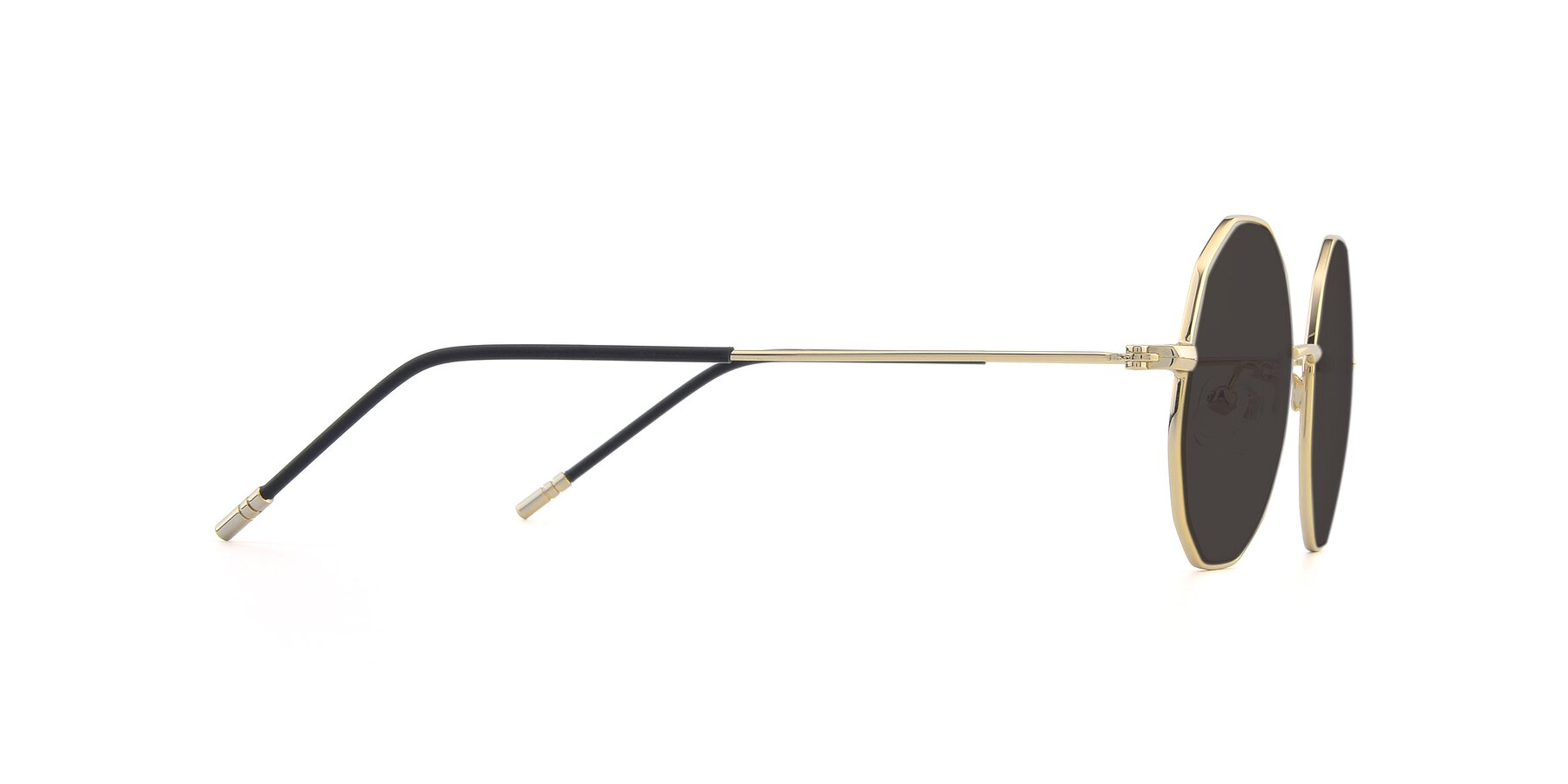 Side of Dreamer in Gold with Gray Tinted Lenses