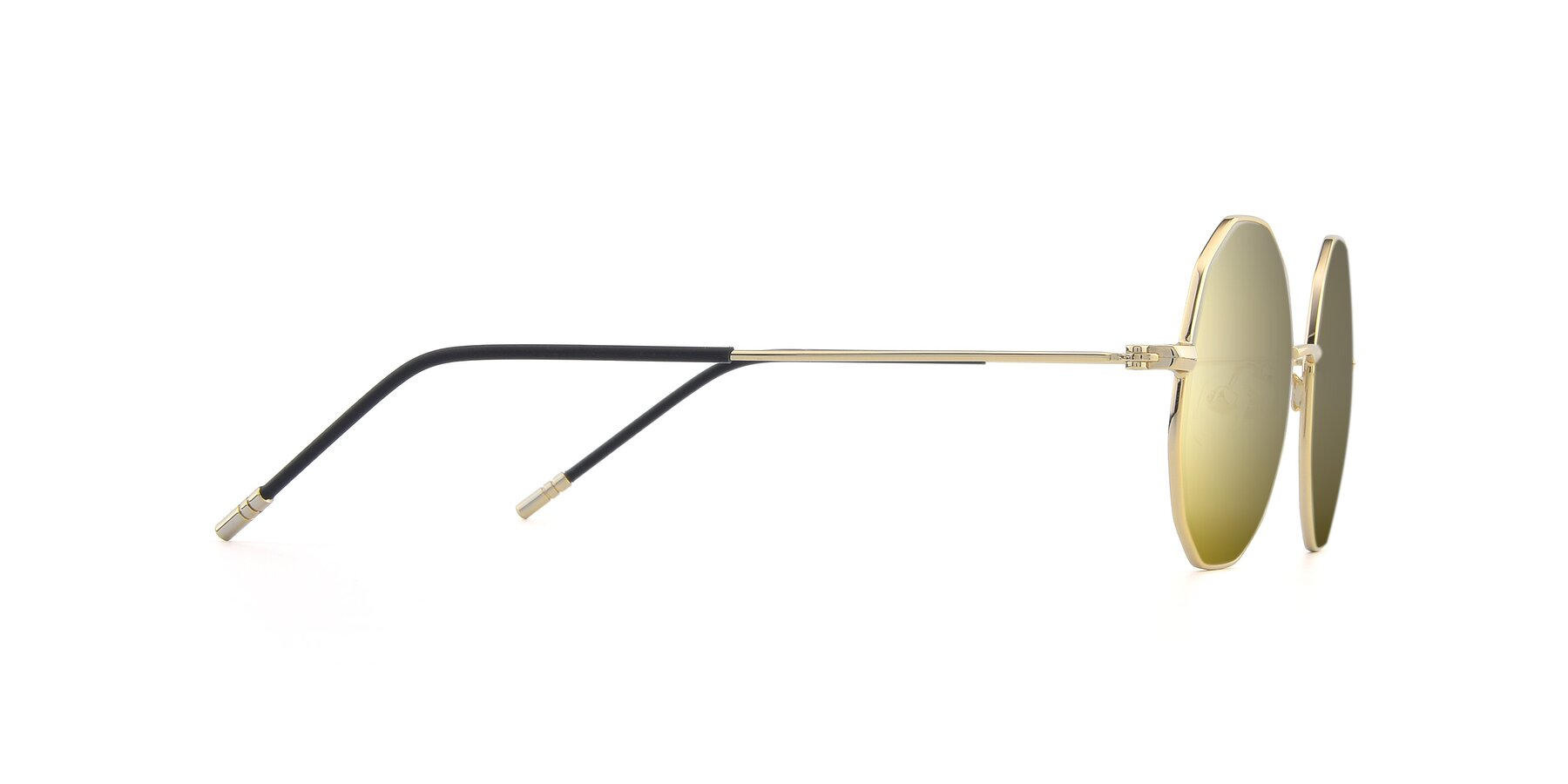 Side of Dreamer in Gold with Gold Mirrored Lenses