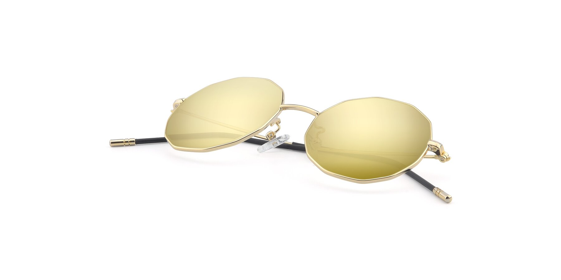 View of Dreamer in Gold with Gold Mirrored Lenses