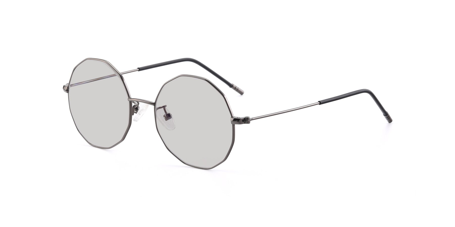 Angle of Dreamer in Gunmetal with Light Gray Tinted Lenses