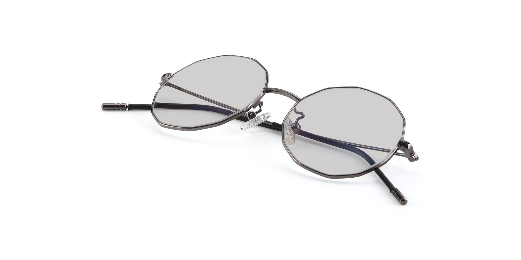 View of Dreamer in Gunmetal with Light Gray Tinted Lenses