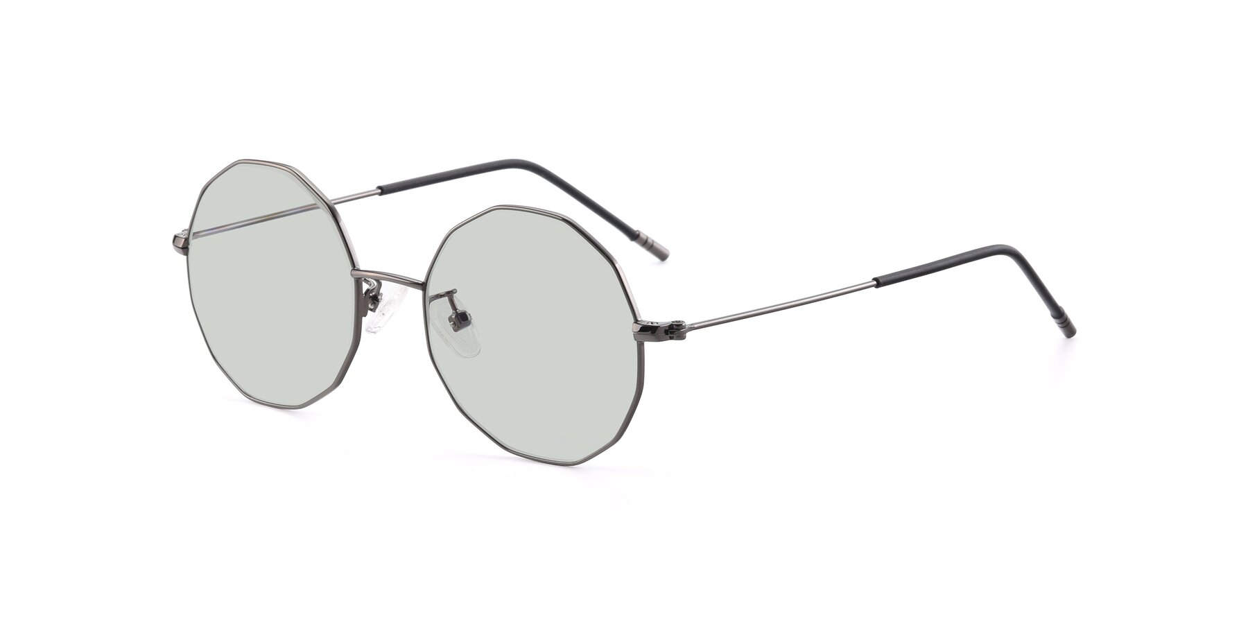 Angle of Dreamer in Gunmetal with Light Green Tinted Lenses