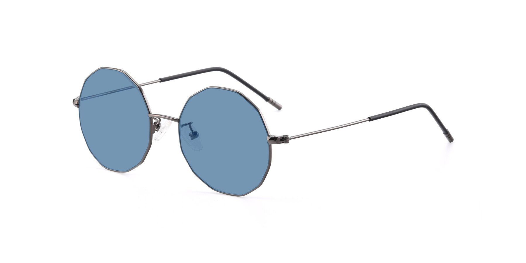 Angle of Dreamer in Gunmetal with Medium Blue Tinted Lenses