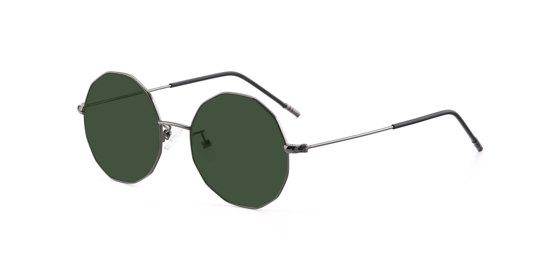 Angle of Dreamer in Gunmetal with Green Tinted Lenses