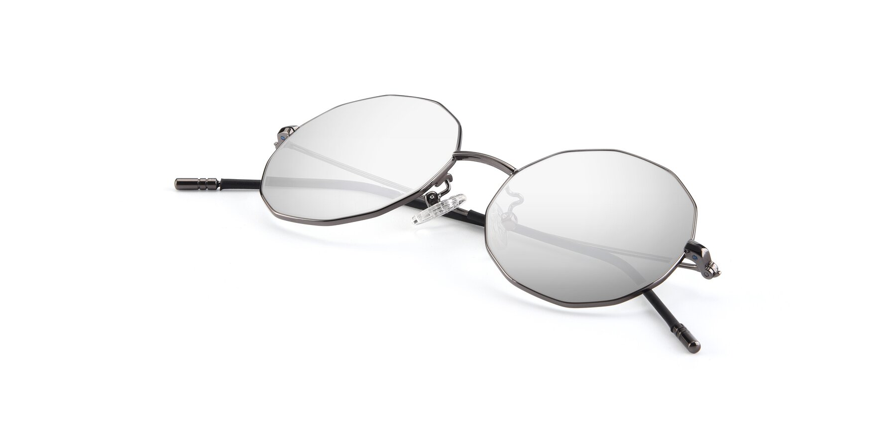 View of Dreamer in Gunmetal with Silver Mirrored Lenses