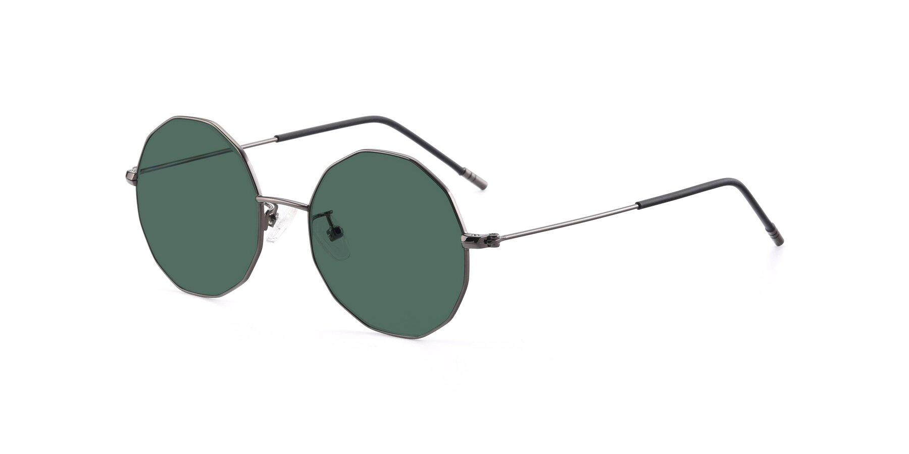 Angle of Dreamer in Gunmetal with Green Polarized Lenses
