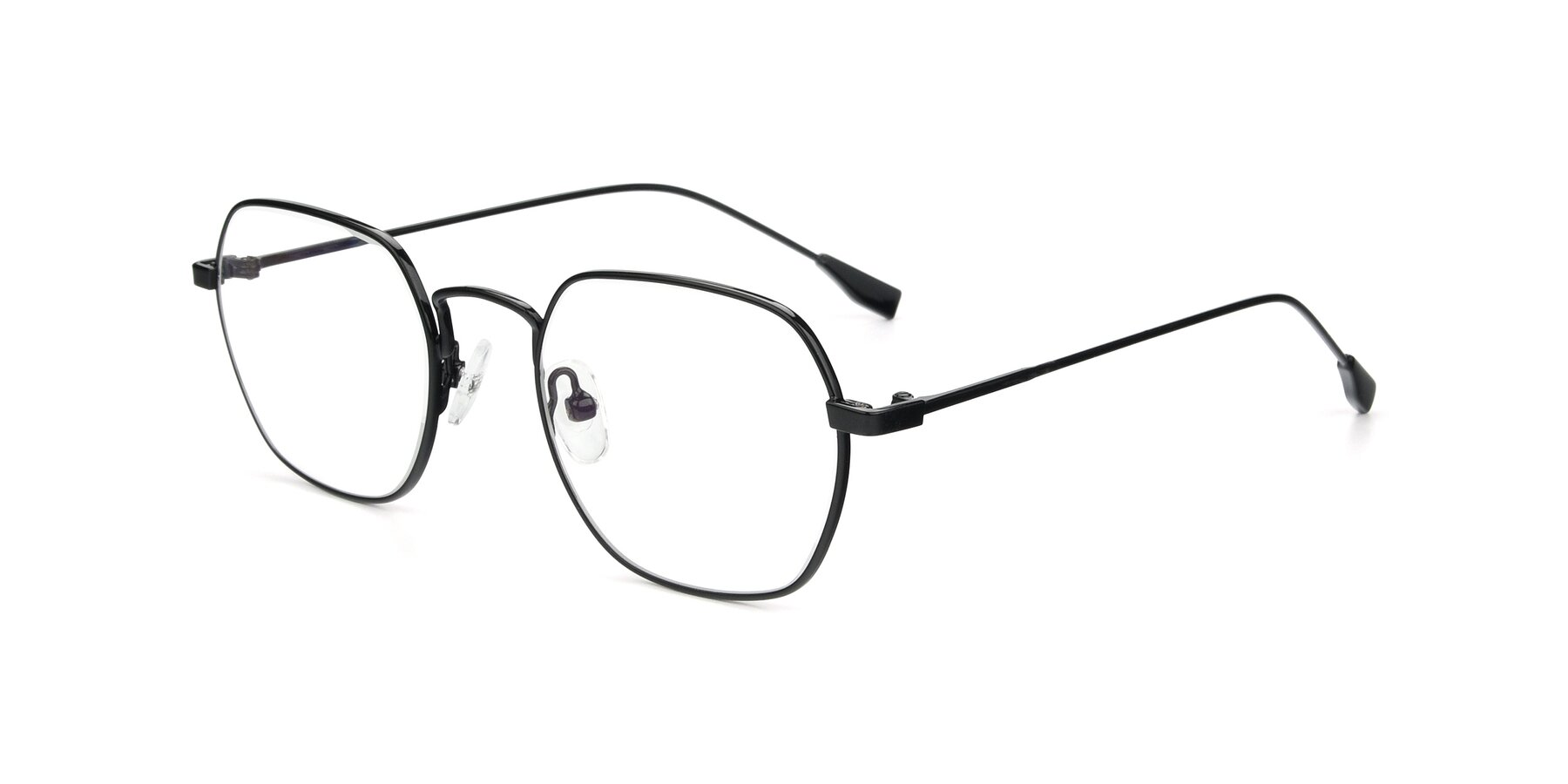 Angle of 9398 in Black with Clear Blue Light Blocking Lenses