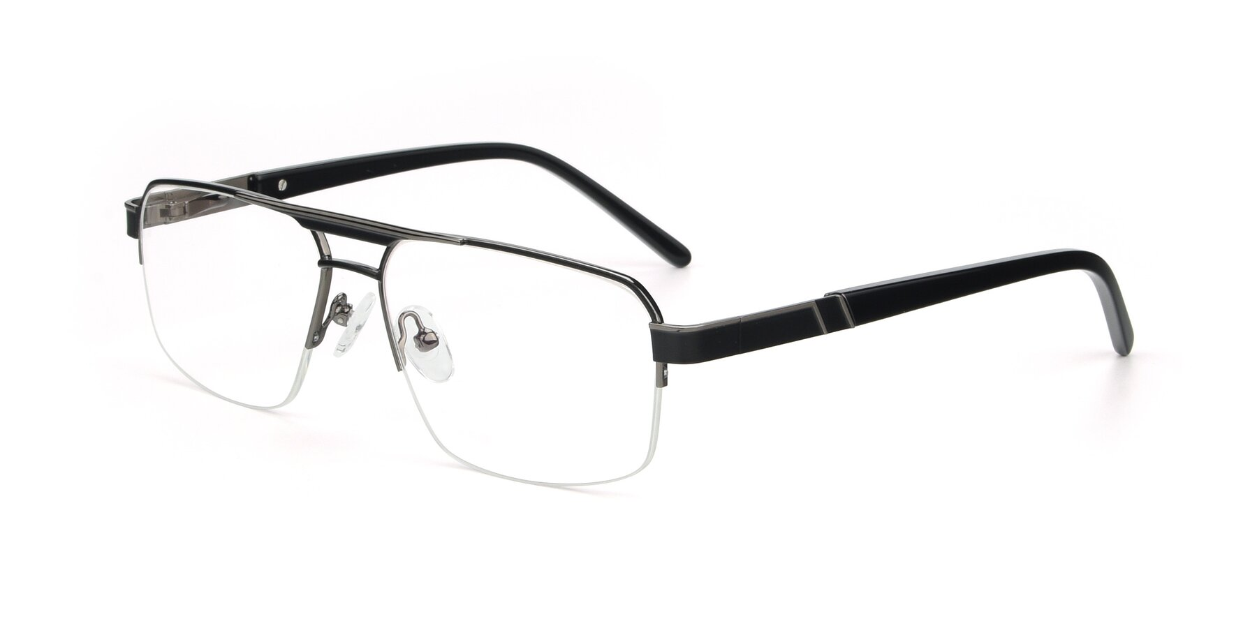 Angle of 19004 in Black-Gun with Clear Eyeglass Lenses