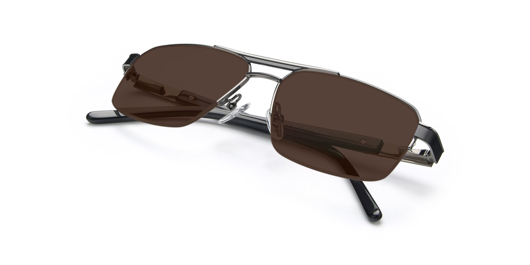 View of 19004 in Black-Gun with Brown Tinted Lenses