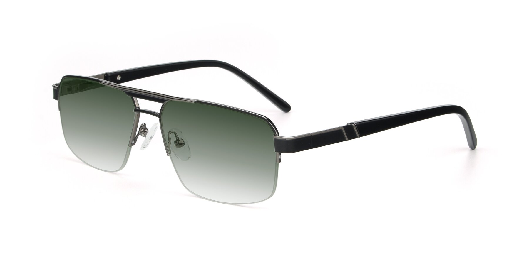 Angle of 19004 in Black-Gun with Green Gradient Lenses