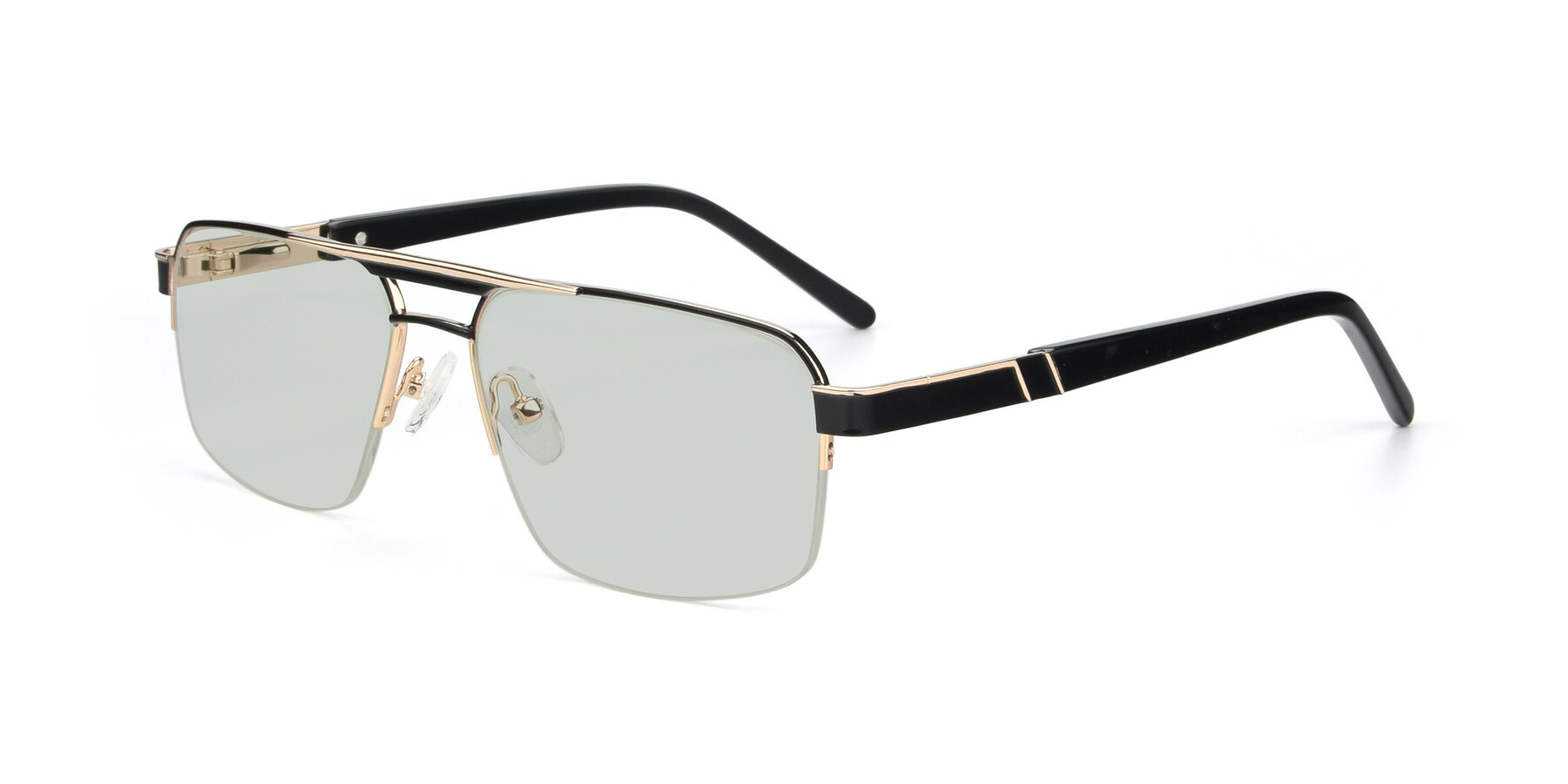 Angle of 19004 in Black-Gold with Light Green Tinted Lenses