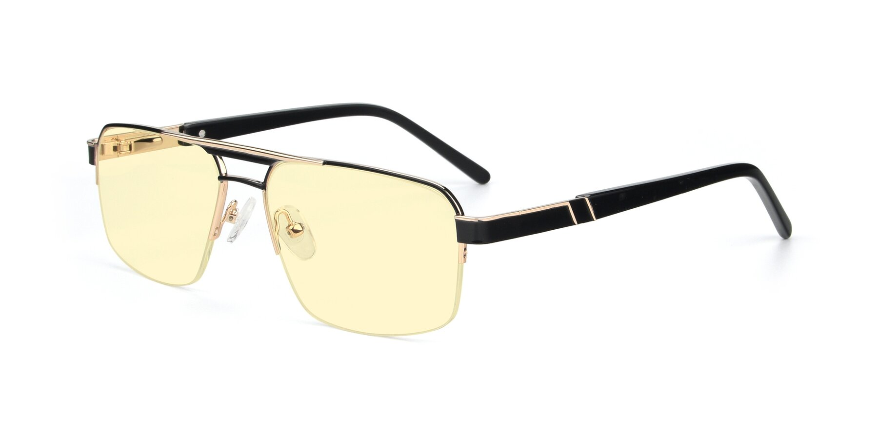 Angle of 19004 in Black-Gold with Light Yellow Tinted Lenses