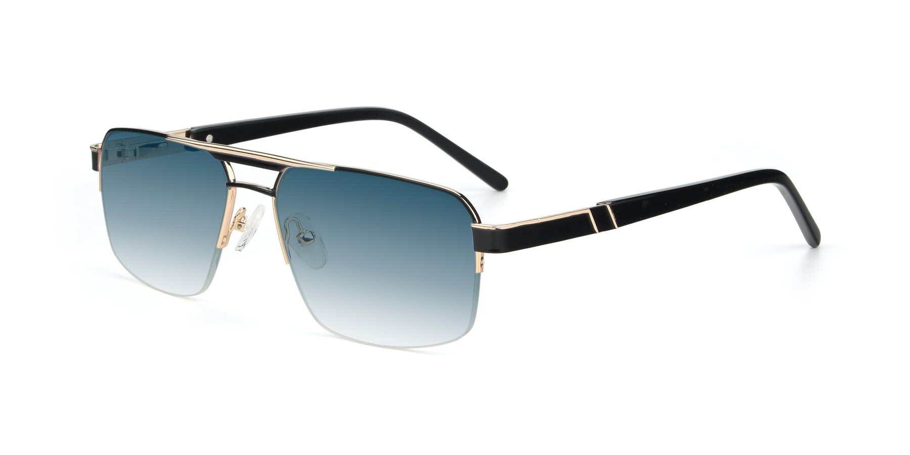 Angle of 19004 in Black-Gold with Blue Gradient Lenses