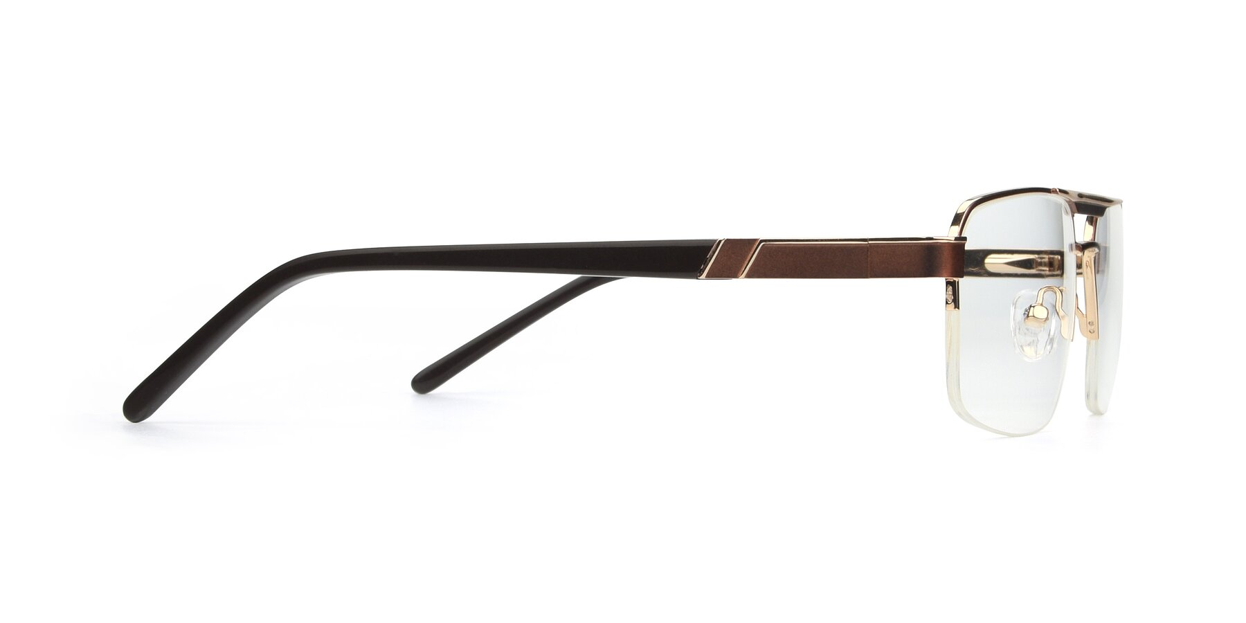 Side of 19004 in Bronze-Gold with Clear Blue Light Blocking Lenses