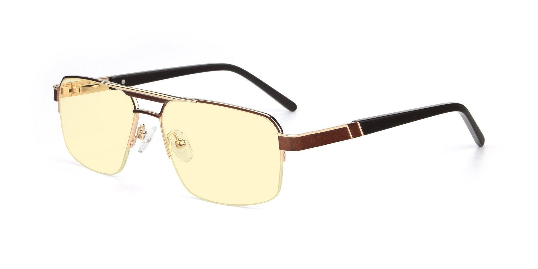 Angle of 19004 in Bronze-Gold with Light Yellow Tinted Lenses