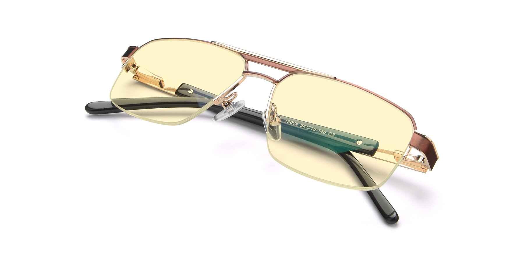 View of 19004 in Bronze-Gold with Light Yellow Tinted Lenses