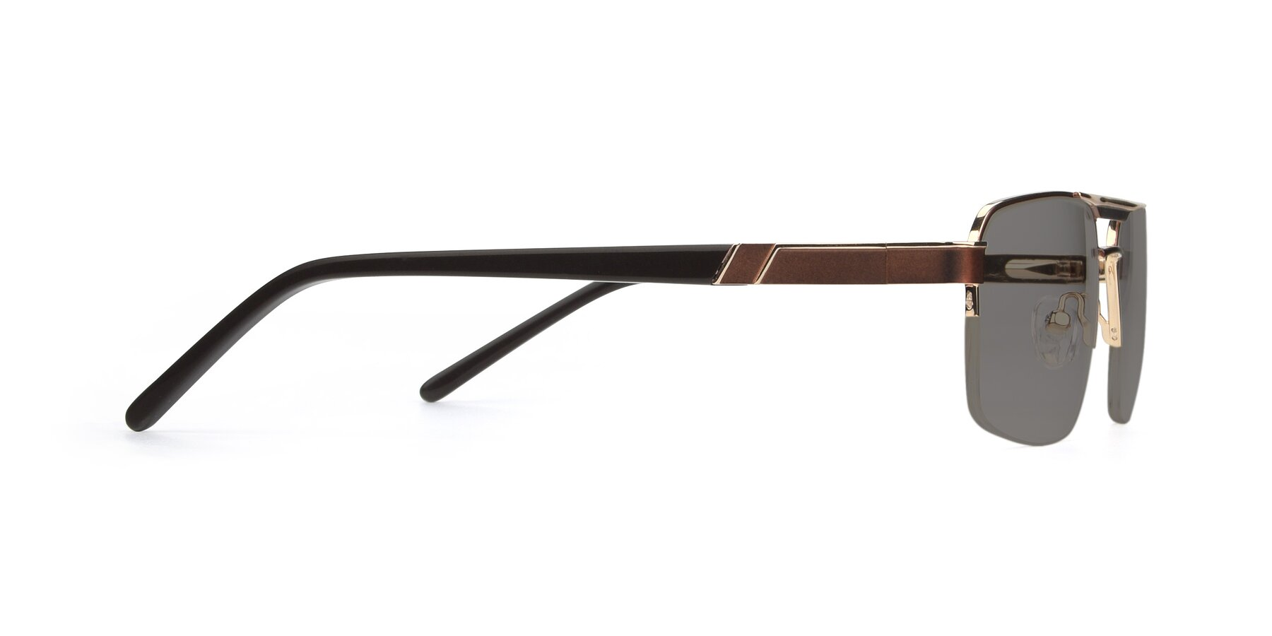 Side of 19004 in Bronze-Gold with Medium Gray Tinted Lenses
