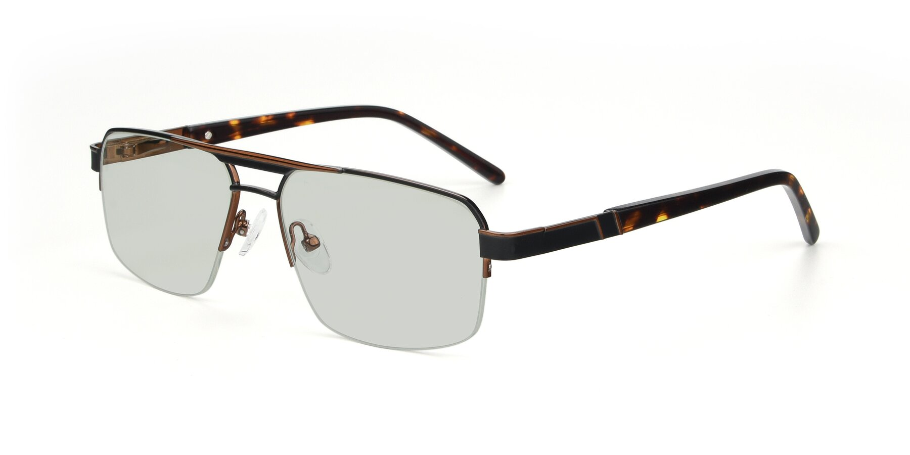 Angle of 19004 in Black-Bronze with Light Green Tinted Lenses