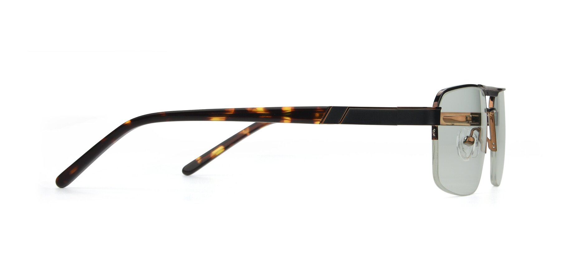 Side of 19004 in Black-Bronze with Light Green Tinted Lenses