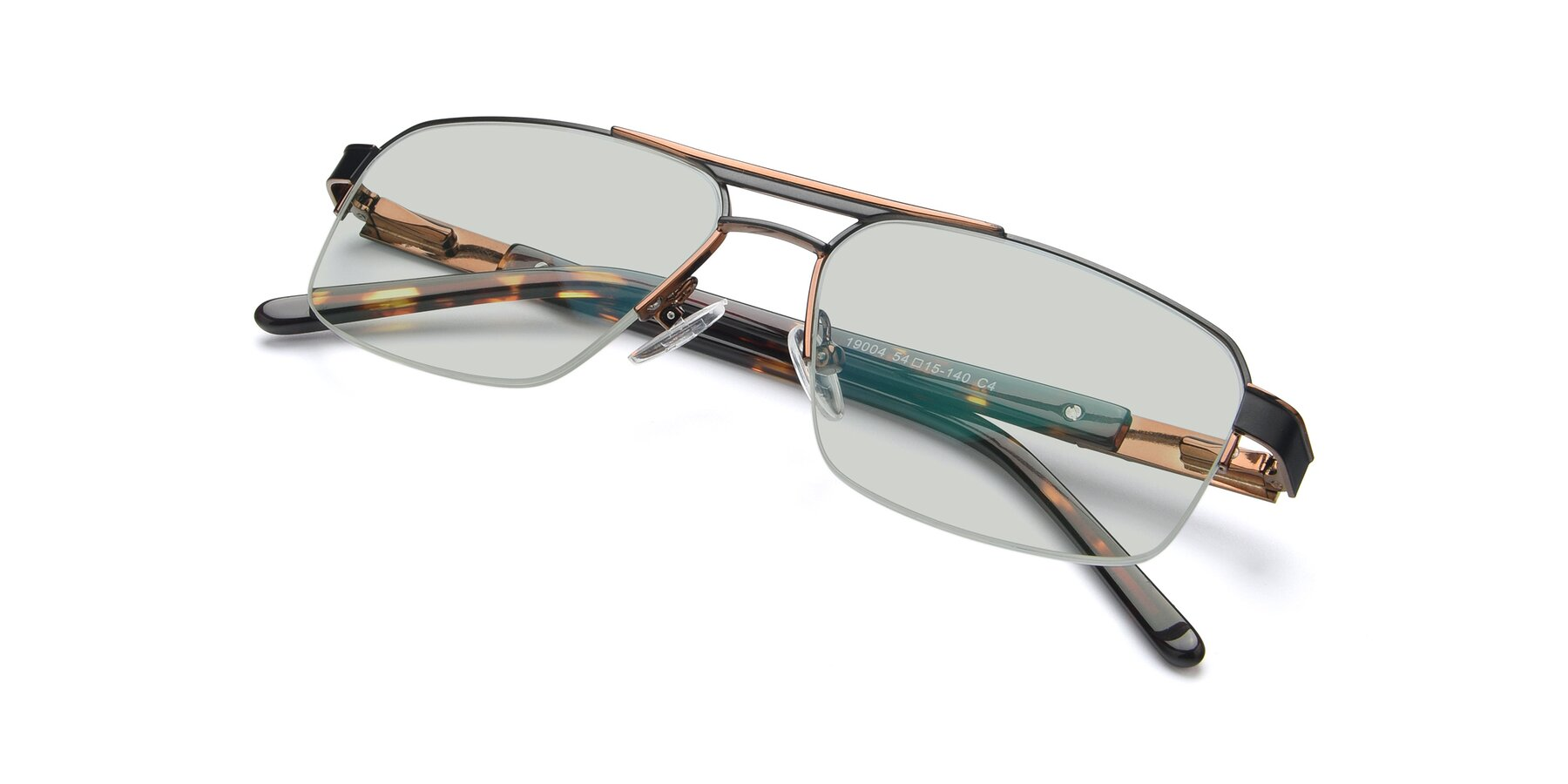 View of 19004 in Black-Bronze with Light Green Tinted Lenses