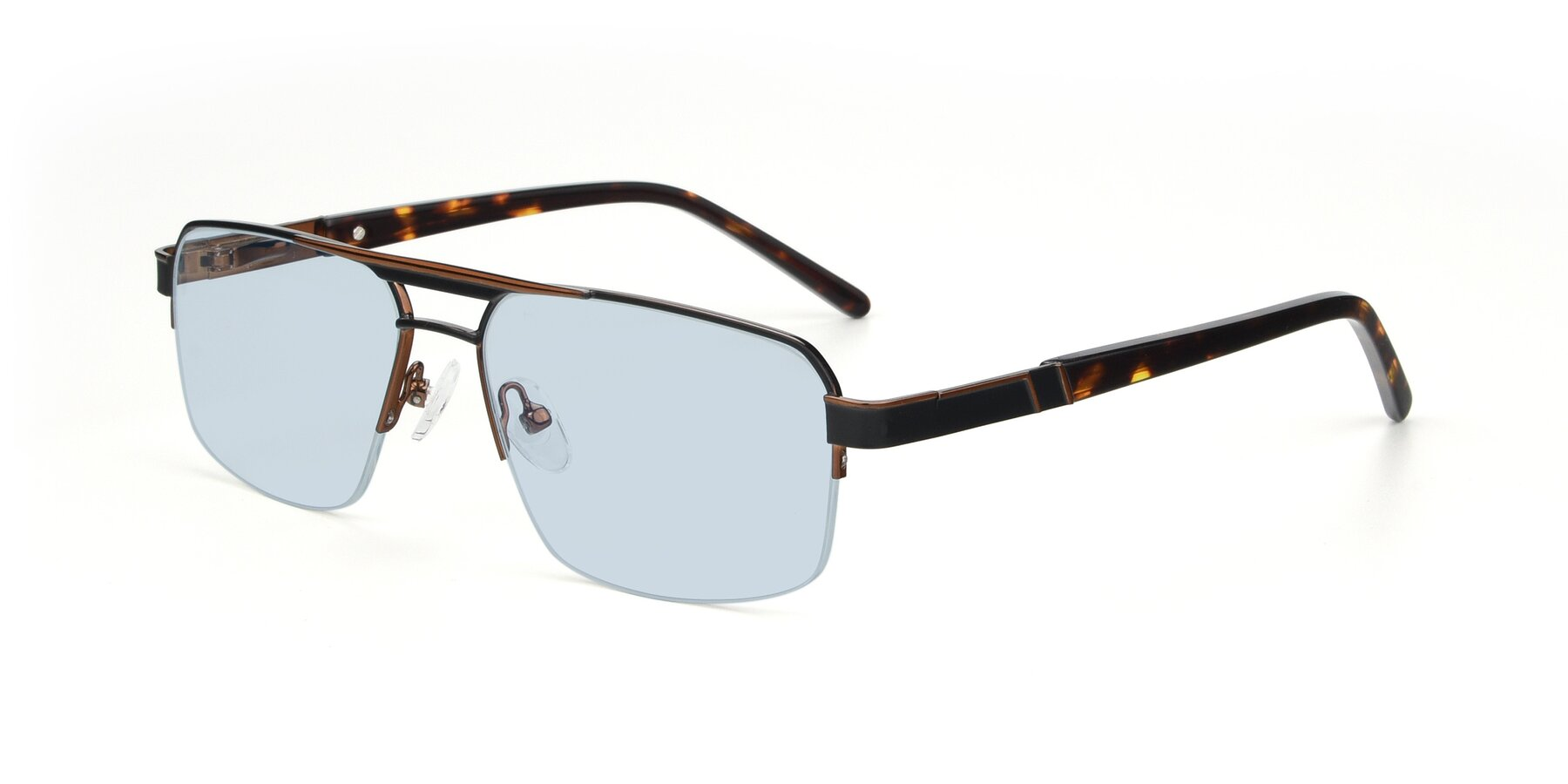 Angle of 19004 in Black-Bronze with Light Blue Tinted Lenses
