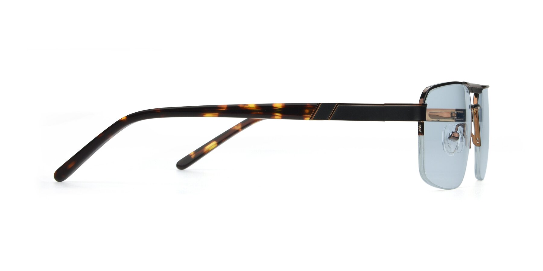 Side of 19004 in Black-Bronze with Light Blue Tinted Lenses