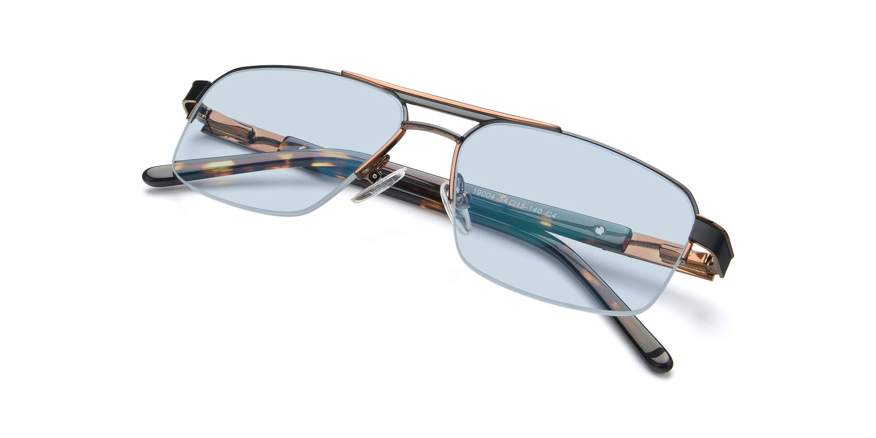 View of 19004 in Black-Bronze with Light Blue Tinted Lenses