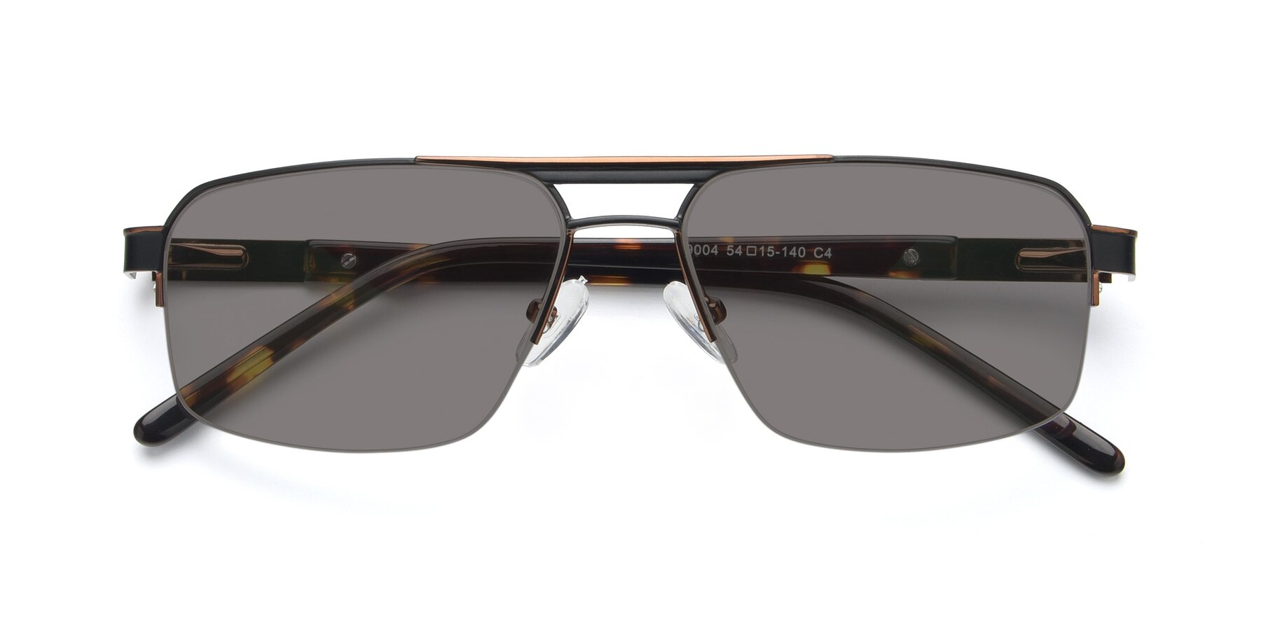 Folded Front of 19004 in Black-Bronze with Medium Gray Tinted Lenses