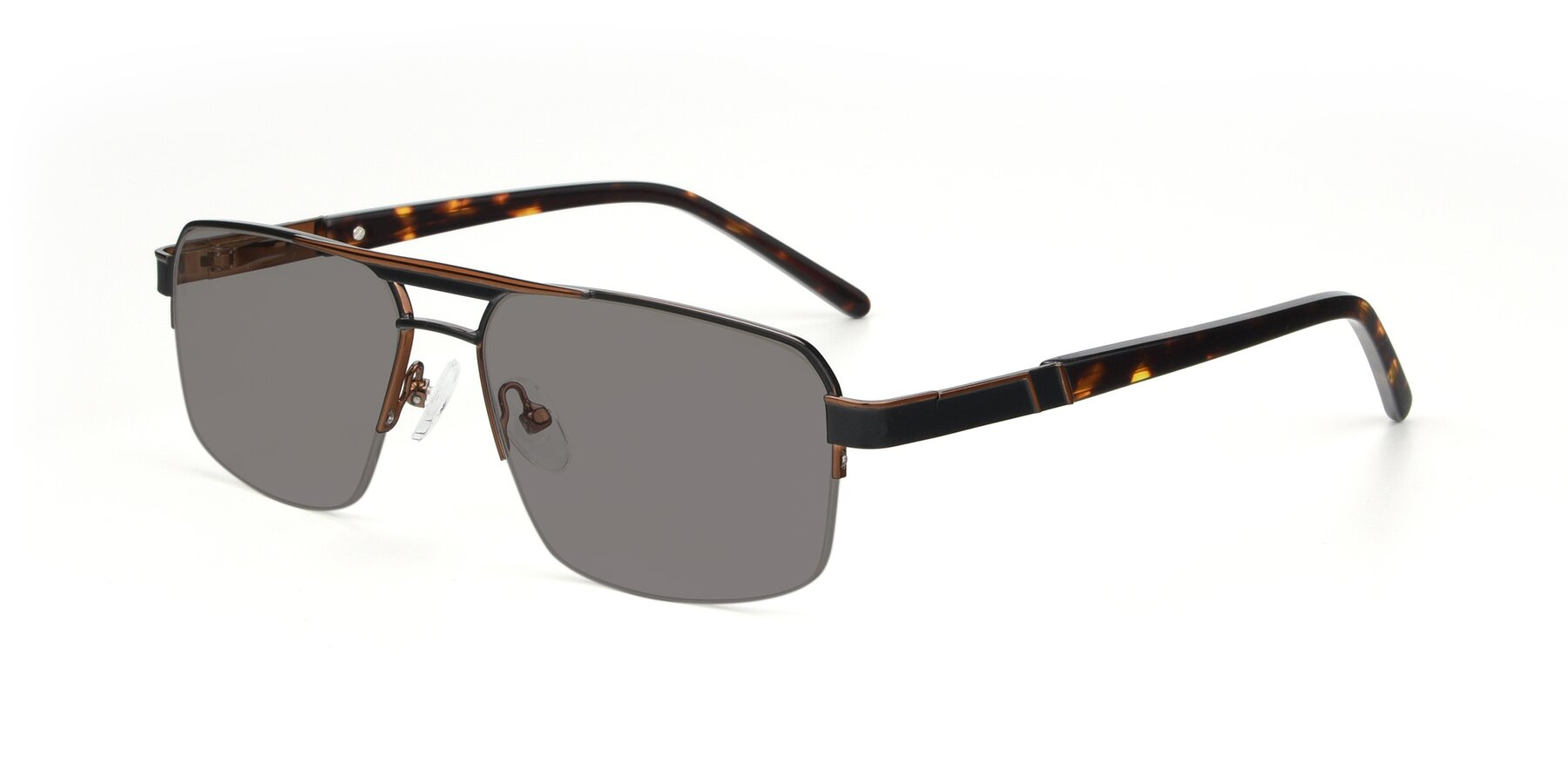 Angle of 19004 in Black-Bronze with Medium Gray Tinted Lenses