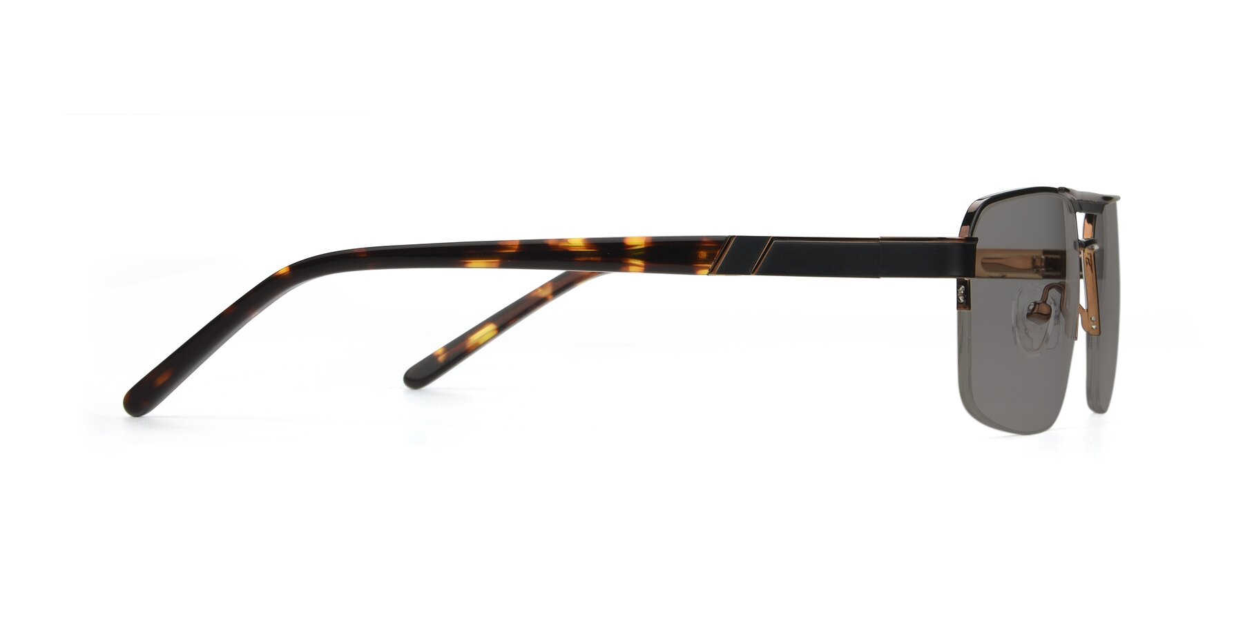 Side of 19004 in Black-Bronze with Medium Gray Tinted Lenses