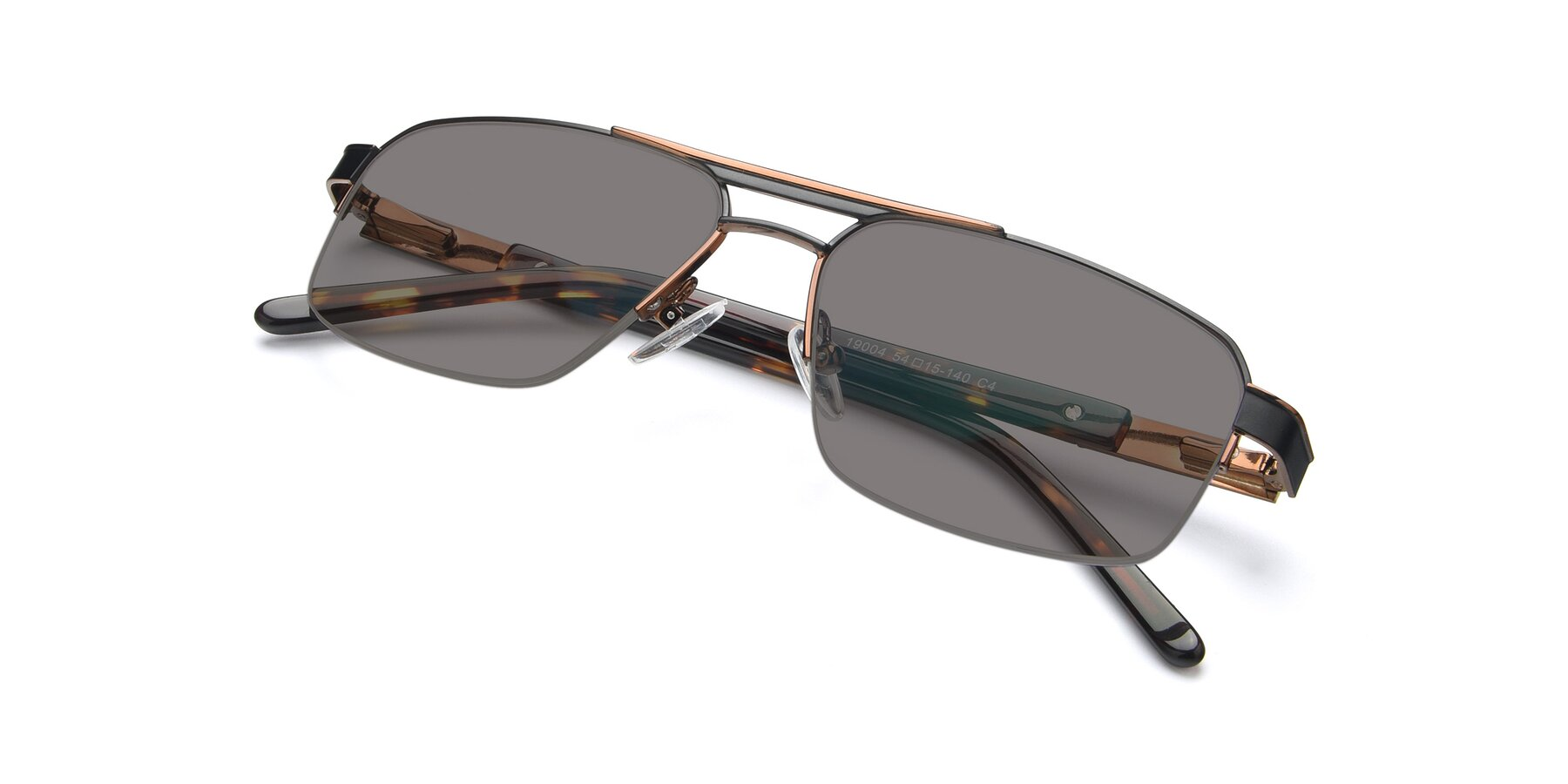View of 19004 in Black-Bronze with Medium Gray Tinted Lenses