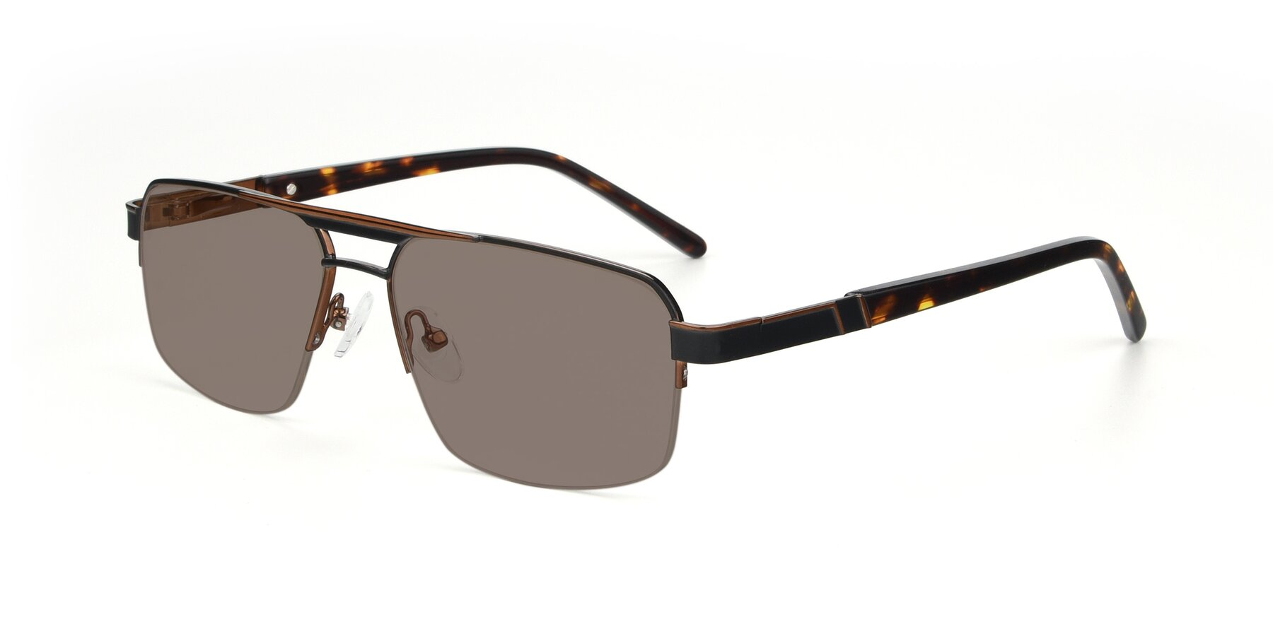 Angle of 19004 in Black-Bronze with Medium Brown Tinted Lenses